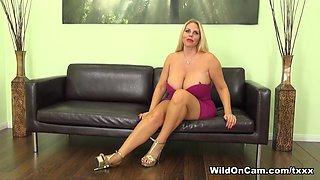 Hottest pornstar Karen Fisher in Crazy Big Tits, Blonde porn movie