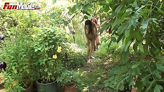 Fun Movies Amateur German Foursome In The Garden