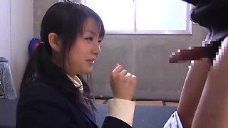 Japanese schoolgirl Chihiro Aoi and tempting a virgin boy