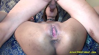 Asian slut abused