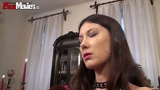 Obedient guys lick and polish anus of hot mistress  Sarah Dark