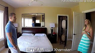 SpyFam Step sister Alexis Adams caught step brother spying