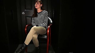 Welcome Audrey to our gloryhole, she has never done a video