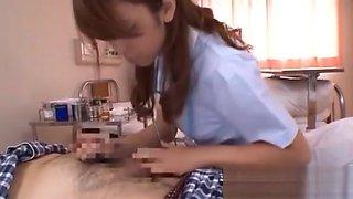 Cute Nurse Gives A Steamy Oral Pleasure To Get A Reward