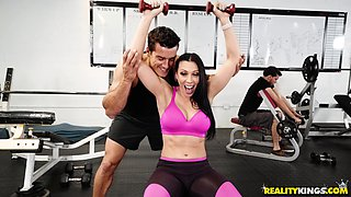 Vivacious dick riding with lusty Rachel Starr and Ramon Nomar