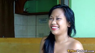 Authentic Pinay plumper Jo Ann gives her head and gets fucked hard