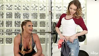 Angel Smalls & Phoenix Marie in Booty Boot Camp - MomKnowsBest