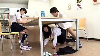 Japanese teen blowjob in public bus