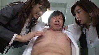 Yuna Shiratori, Ichika Kanhata naughty office chicks CFMN threesome