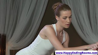 Gorgeous masseuse pussyfucked by her client