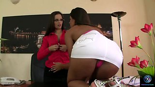 Office sex with Eve Angel and Zafira