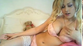 Slutty blonde chainsmoking barbie drenches her lungs for daddy