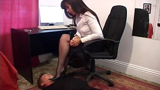Foot Dominant Mistress With High Heels