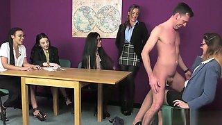Cfnm mistress tugging