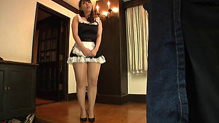 Pantyhose girl with vibrator