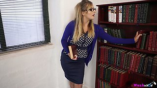 Young teacher Yasmin Grayce takes off her clothes and shows off her pussy and ninnies
