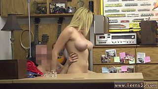 A perfect blonde bombshell being punished hard for her misdeeds
