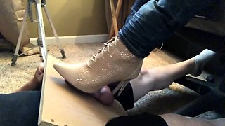 Dominant amateur babe in high heels punishes a meat stick