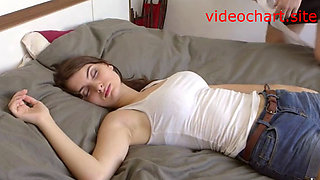 Sleeping stepsister getting fucked