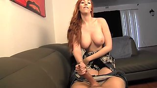Red headed step mom relieves son
