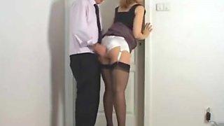 White satin panties