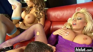 hot babes enjoy big pulsating schlong