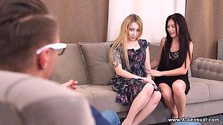 X-Sensual - Bella Mur - Roxy Sky - Bisexual escorts share big rod