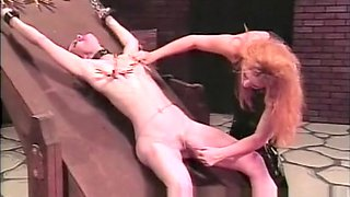 Skinny brunette playgirl is down for some hardcore spanking session