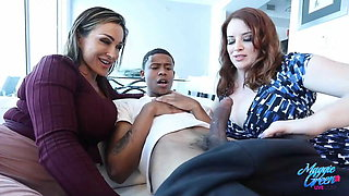 Top Heavy Maggie Green And Aubrey Black Fuck Their Student!