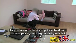 FakeAgentUK Squirting casting girl back for more action