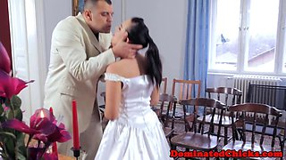 Submissive bride humiliated and disciplined