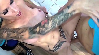 StepMom Caught naked in Kitchen and Seduce to Fuck by Son