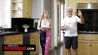 Sexy Dirty Old Grandpa Takes Advantage Of Granddaughter