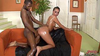 Tori Black And Tee Reel In Oiled Fucks A Black Cock