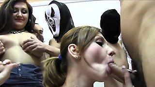 Dirty girl loves a face full of sperm loads