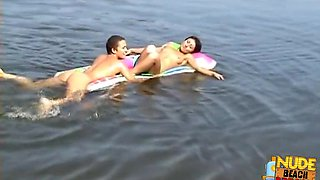 Horny Amateur movie with Pregnant, Beach scenes