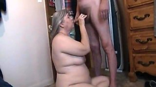 Kim bates swallows a cock.