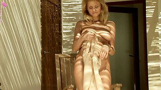 Naughty woman is happy to make her body excited with her fingers