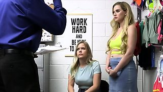 Curvy blondes busted and fucked at the office