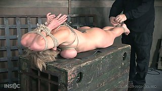 Kinky ex husband punishes big tittied whore wife Dee Williams in the basement
