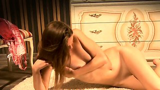 Lovely cutie gapes pink muff and gets deflorated