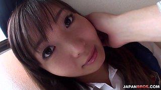 Haruka Ohsawa school uniform hardcore action