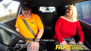 Fake Driving School Busty mature MILF sucks and fucks