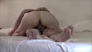 Mature hairy wife touches herself, 69s and rides husband