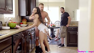 Strict stepdad punishes whorish stepdaughter Whitney Wright in public