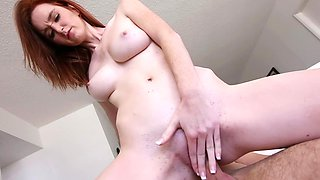 Adorable 18 year old ginger with big boobies gets rammed so well