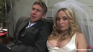 he gets fucked in ass by his bride