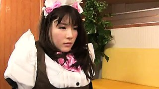 Naughty Asian maids in uniform satisfy their lesbian urges