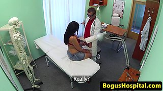 Busty euro amateur pussyfucked by doctor