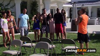 Swinger party at the Mansion with horny